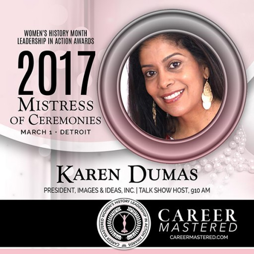 Communications Professional and Radio Personality Karen Dumas to MC Michigan's 2017 Women's History Month Career Mastered Awards