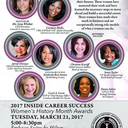 2nd Annual North Carolina Women's History Month Career Mastered Class of 2017 Announced